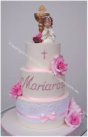 First Holy Communion Cake With A Praying Girl By Elitecakedesigns