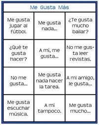 Me Gusta Mas Printable Spanish Gustar Game Learning