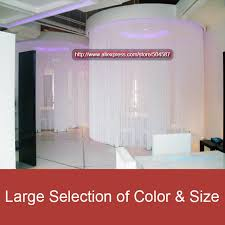 100 polyester new classical white string curtain panel for window decoration wedding backdrops and events