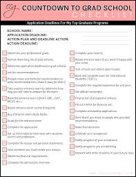 Checklist For School Countdown To Grad School Checklist Free Download Classy Career Girl