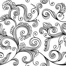 black and white floral wallpaper pattern. Beautiful And Simplistic Black And White Floral Pattern  Seamless Wallpaper With  Stylized Leaves Vector Image U2013 Click To Zoom With Black And White Floral Wallpaper Pattern L