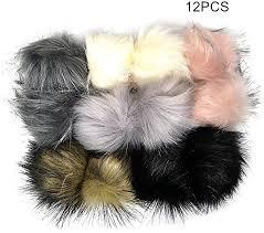 <b>12pcs</b> Faux Raccoon Fur Fluffy Pom Pom Ball for Hat Shoes ...