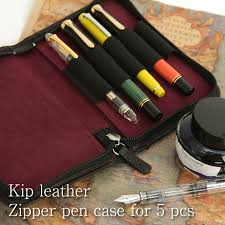 nagasawa penstyle five simple melody ticket leather zip pen case nagasawa fountain pen leather pen case fastener