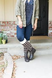 diy boot cuffs fall outfit
