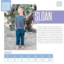 Kids Lularoe Sloan Top Size Chart Including 2018 Updated