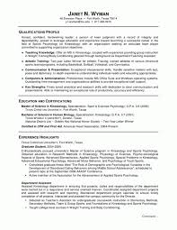Resume Examples For Science Majors - April.onthemarch.co