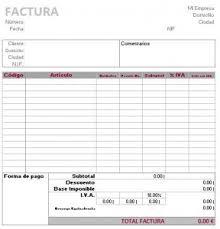 Formatos De Factura Modelo De Factura Para Excel Modelo Factura