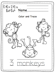 Small Picture 5 Little Monkeys Coloring Page nebulosabarcom