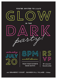 If you do not have it you can download it for free here. Glow In The Dark Children S Birthday Invitations By Basic Invite