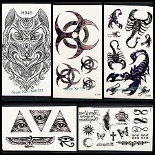2329 руб 10 скидкачерный индийский тотем временная татуировка лезвие мужской боди