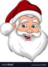 santa claus face images. Exellent Claus Happy Santa Claus Face Side View Vector Image For Images VectorStock