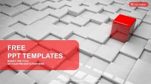 Different Red Quadrangle Powerpoint Templates