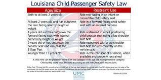 new louisiana child seat law goes into