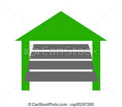 garage door house icon ilration