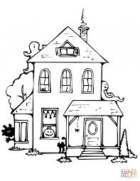 Small Picture Houses And Homes Coloring Pages For Preschool Kindergarten