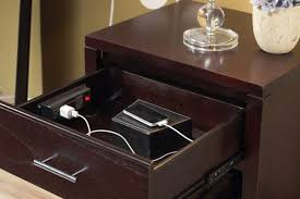 bedside table with charging station. Interesting With Nightstands Cell Phone Charger Organizer Wooden Charging Station Trent Nightstand  Multiple Iphones Tabletop On Bedside Table With