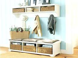 Foyer Benches With Coat Racks Front Entryway Decorating Ideas Narrow Foyer Decor Idea Storage 2