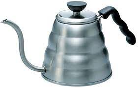 Another great electric coffee kettle which is most definitely a top choice of ours is the chef's choice the hamilton beach 40870 electric coffee kettle, with its stainless steel exterior and appealing black. Amazon Com Hario Gooseneck Coffee Kettle Buono Stovetop 1 2l Stainless Steel Silver Tea Kettle Kitchen Dining