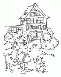 Small Picture Coloring Pages School Coloring Pages To Print Printable First Day
