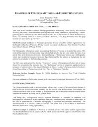 Citation Methods And Formatting Styles