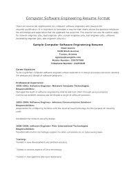 Sensational Software Engineering Resume Example Engineer