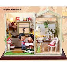 Cozy Kitchen Kit Dollhouse Crystall Room Cozy Kitchen