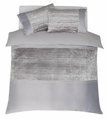 argos home grey velvet bedding set