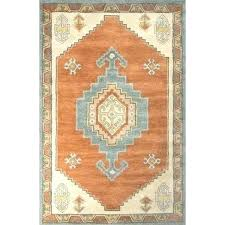 green and blue striped rug handmade medallion orange area 5 x 8 free throughout decor outdoor