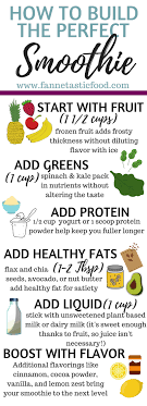 Smoothie Recipe Chart Mix Match Healthy Smoothie Recipes Fannetastic Food