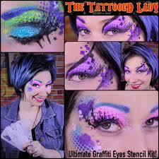 ultimate graffiti eyes stencil kit sugar skull face paintsugar