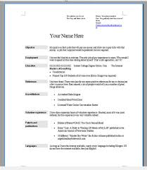 How To Do Resume Templates Breathtaking A You Use Template On Word