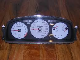 diy honda civic 92 95 jdm door open gauge cluster indicator rarer jdm civic 3dr eg6 hatchback gauge cluster door open indicator and tcs possibly only seen in 1995 also it has a 250km h speedo
