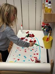 preschool art table. Summer Outdoor Art Station For Preschoolers! Simple Project! Preschool Table A
