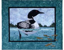 Loon quilt | Etsy & Wildfire Designs Alaska Day at the Lake Duck Bird Applique Quilt Pattern Adamdwight.com