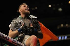 first le ufc featherweight chionship conor mcgregor knocked