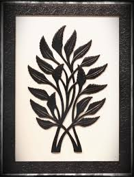 items home office. Handmade Black White Wall Hanging In Mdf Rectangle Shaped Leafy Motifs Decorating Items Home Office D