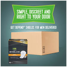 Depends Mens Shields Light Depend Incontinence Shields For Men Light Absorbency 58 Ct
