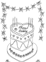 Small Picture Love Birthday Cake Coloring Page Birthday Coloring pages of