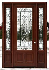 Exterior Doors With Glass Front Doors With Wrought Iron And - Iron exterior door