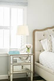 small mirrored nightstand with french