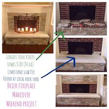 pretty brick fireplace makeover on brick fireplace makeover for the home brick fireplace makeover