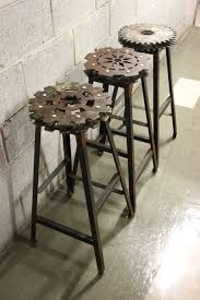 Nice Design of Unique Bar Stools Made of Iron Material For Kitchen Interior