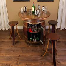 whiskey barrel table and chairs whiskey barrel 5 piece pub table set vintage whiskey barrel table