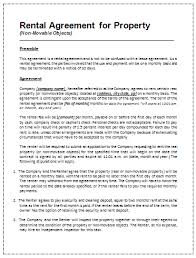 Printable Sample Rental Agreement Template | Office Templates Online