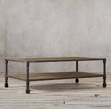 restoration hardware dutch industrial coffee table