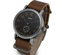 timex tw2p86800 weekender leather watch 40mm vintage indiglo quartz