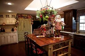 Kitchen Above Cabinet Decor Decorating Kitchen Cabinet Doors For Christmas Monsterlune