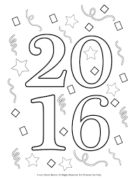 Small Picture Free Printable 2016 New Years Coloring Pages for Kids Happy New