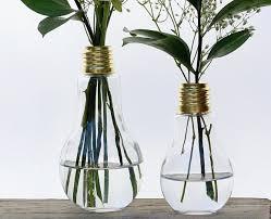 tall vase lighting garden. Light Bulb Bud Vase Pair, Large And Small Rustic Farmhouse Kitchen Table Decor, Tall Lighting Garden T