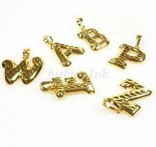 Золотой брелок буквы, цифры и слова, модные ожерелья и ...